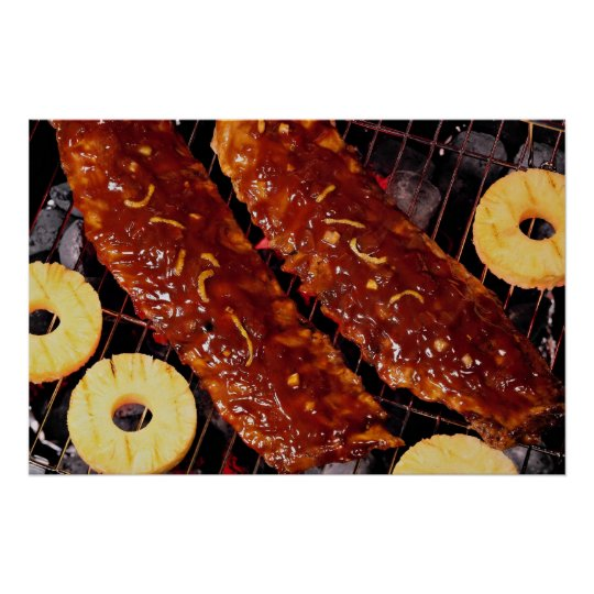 Southern style spareribs poster