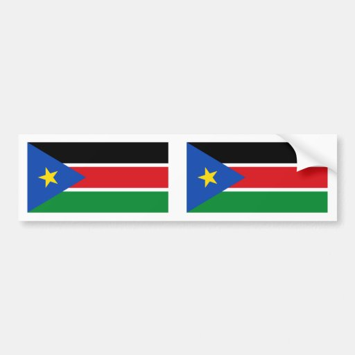 Southern Sudan Flag Bumper Stickers