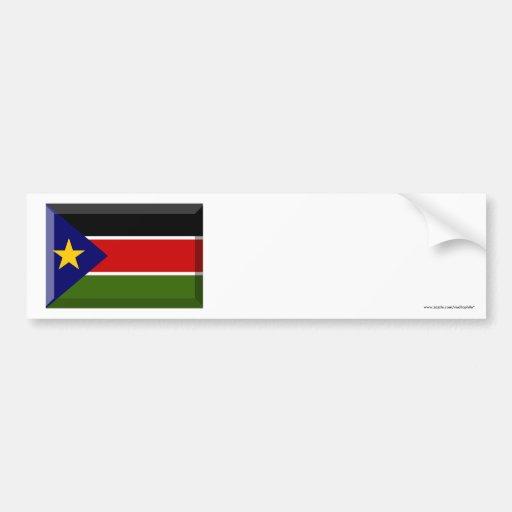 Southern Sudan Flag Jewel Bumper Stickers