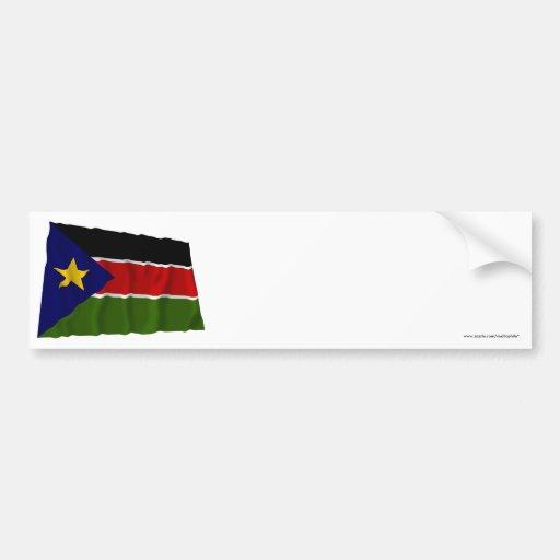 Southern Sudan Waving Flag Bumper Stickers