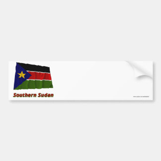 Southern Sudan Waving Flag with Name Bumper Stickers