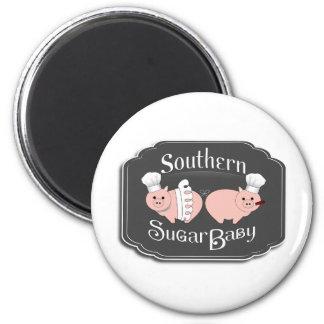 Southern Sugar Baby Logo 6 Cm Round Magnet
