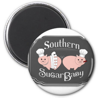 Southern Sugar Baby Logo - black Refrigerator Magnet