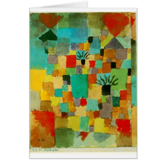 Southern (Tunisian) gardens by Paul Klee Card