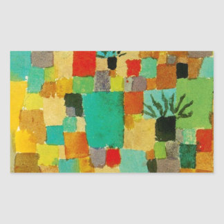Southern (Tunisian) gardens by Paul Klee Rectangular Sticker