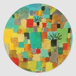 Southern (Tunisian) gardens by Paul Klee Round Sticker