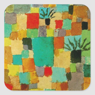 Southern (Tunisian) gardens by Paul Klee Square Sticker