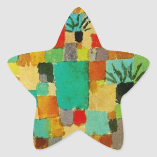 Southern (Tunisian) gardens by Paul Klee Star Sticker