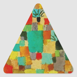 Southern (Tunisian) gardens by Paul Klee Triangle Sticker