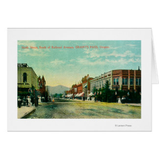 Southern View of Sixth Street from Railroad Card
