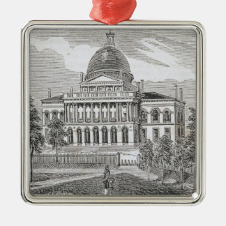 Southern view of the State House in Boston Christmas Ornament