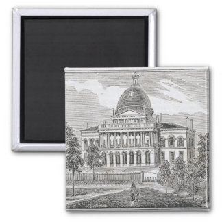 Southern view of the State House in Boston Magnet