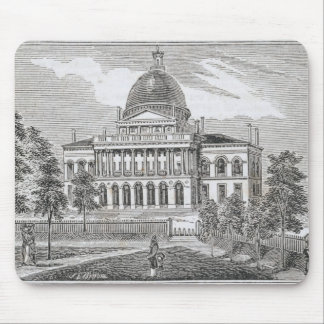 Southern view of the State House in Boston Mouse Pad