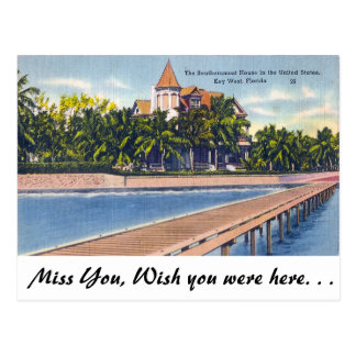 Southernmost House, Key West Postcard