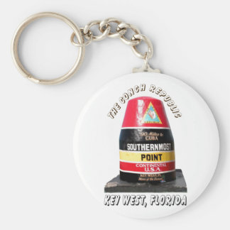 Southernmost Point Basic Round Button Key Ring