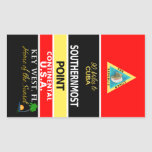 Southernmost Point Buoy Key West Rectangular Stickers
