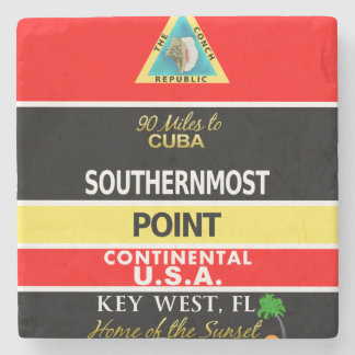 Southernmost Point Buoy Key West Stone Coaster
