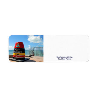 Southernmost Point Key West Florida Return Address Label