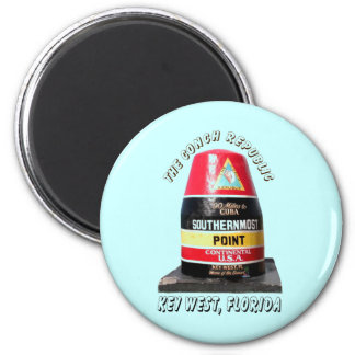 Southernmost Point 6 Cm Round Magnet