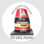 Southernmost Point Round Stickers