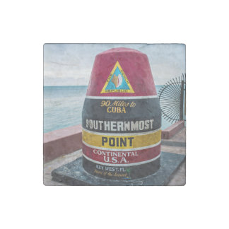 Southernmost Point Stone Magnet
