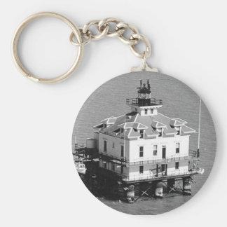 Southhampton Shoal Lighthouse Basic Round Button Key Ring