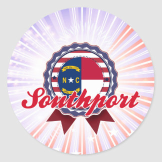 Southport, NC Round Sticker