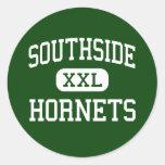 Southside - Hornets - High - Elmira New York Round Stickers