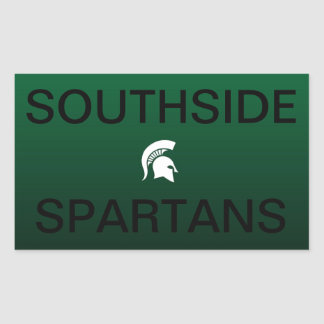 Southside Spartans Rectangular Sticker