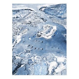 Southward Overhead View Pearl Harbor Postcard