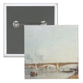 Southwark Bridge, West Front, from Bankside 15 Cm Square Badge