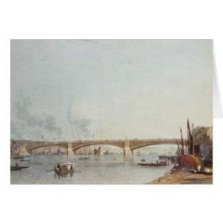 Southwark Bridge, West Front, from Bankside Card