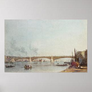 Southwark Bridge, West Front, from Bankside Poster