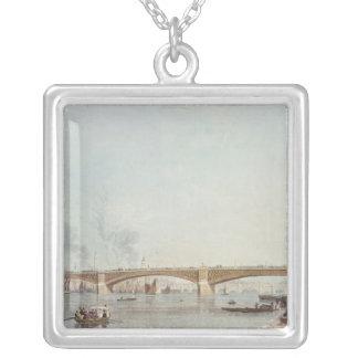 Southwark Bridge, West Front, from Bankside Square Pendant Necklace