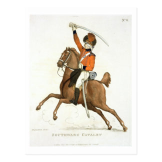 Southwark Cavalry Volunteer plate 6 from Loyal V Postcard