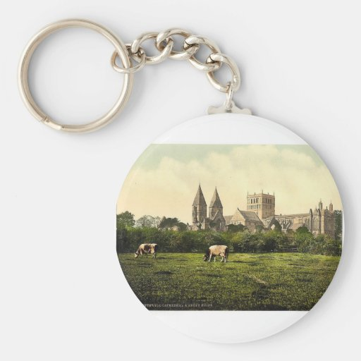 Southwell Cathedral and abbey ruins, Notts, Englan Key Chains
