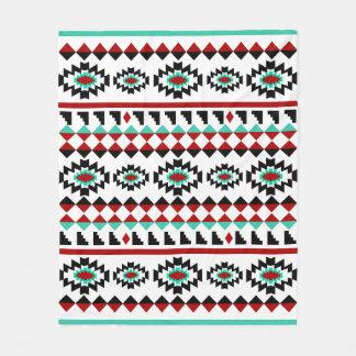 Southwest Aztec Native American Tribal Design Fleece Blanket