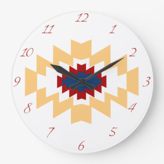 Southwest Aztec Native American Tribal Design Wallclocks