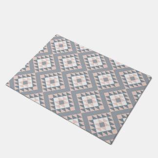 Southwest Blanket Pattern Blush Gray Doormat