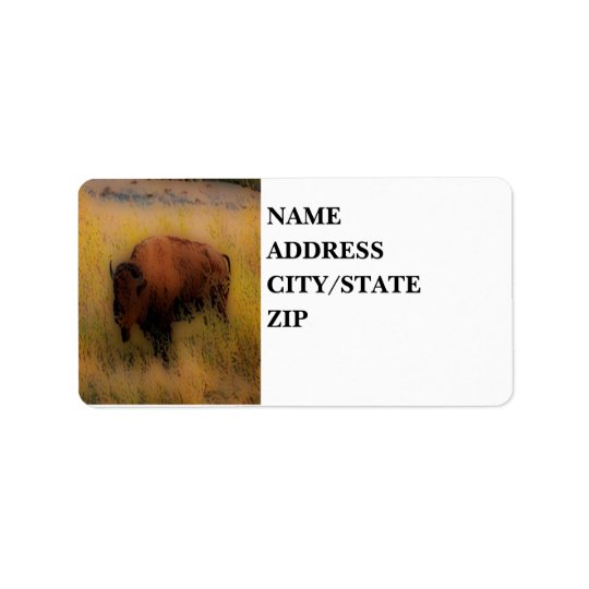 'Southwest Buffalo of the Prarie' Address Label