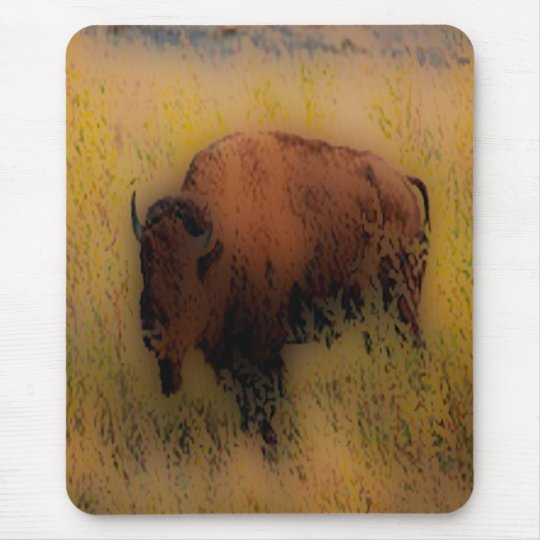 'Southwest Buffalo of the Prarie' Mouse Mat