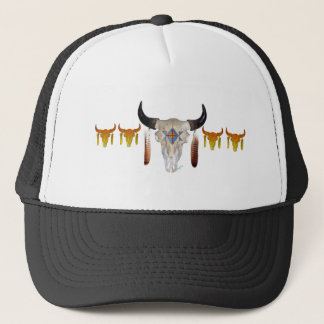 Southwest Buffalo Skull Trucker Hat