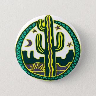 Southwest Cactus 6 Cm Round Badge