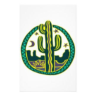 Southwest Cactus Customized Stationery