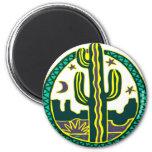 Southwest Cactus Fridge Magnet