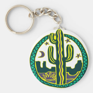 Southwest Cactus Key Ring