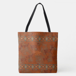 Southwest Canyons Petroglyphs Tote Bag