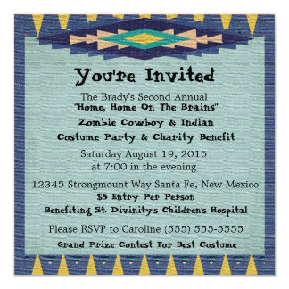 Southwest Charity Gala Cowboy Theme Party - 5.25x5.25 Square Paper Invitation Card