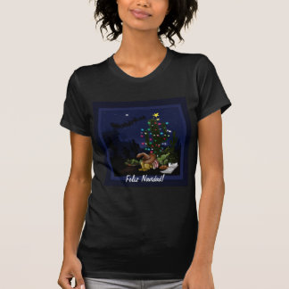 Southwest Christmas cactus cartoon T-Shirt