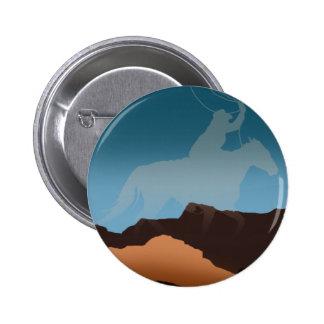 Southwest Cowboy Silhouette Pin